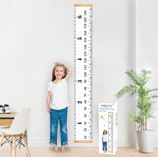 Height Chart Pictures Mibote Baby Growth Chart Handing Ruler Wall Decor For Kids Canvas Removable Height Growth Chart 200cm X 20cm