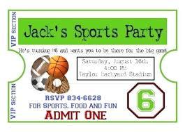 Football Invitation Template Free Printable Sports Birthday Invitations Football Themed Party