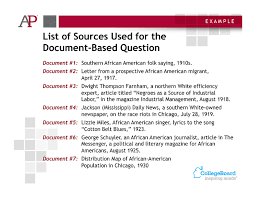 sample questions a p u s history possible thesis 1 the several hundred thousand african americans who migrated from the rural south to the urban north between 1910 and 1930 found increased
