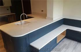 top quality low carrara white quartz countertops with grey veins custom quartz table top kitchen cabinet marble looking bench top with sink cut out