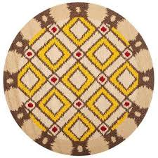 four seasons beige yellow 4 ft x 4 ft round area rug