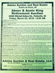 Upcoming Auctions - Adams Auction & Real Estate