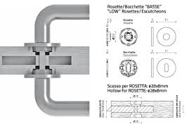 olivari s innovative thin escutcheon and rosette is only 1 5 inch 5 mm thick half the traditional thickness the return spring is still installed inside