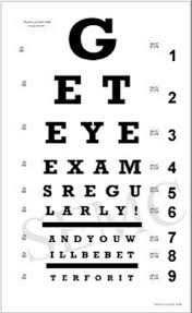 Regular Eye Charts