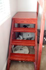 bunk bed with stairs plans. DIY Full Loft Bed | JaimeSews Bunk Bed With Stairs Plans