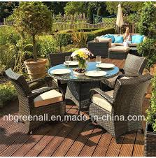 china 4 seater round table rattan chair table dining set outdoor furniture china outdoor furniture rattan furniture
