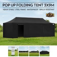 Folding Tent Ogl 3x9m Pop Up Outdoor Gazebo Folding Tent Waterproof Marquee