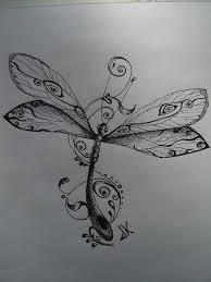 Dragonfly Tat Dragonfly Vážka Tetování Nápady Na Tetování