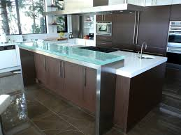 contemporary kitchen with tempered glass kitchen island countertop intended for tempered glass countertops prepare