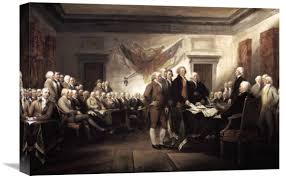 global gallery signing of the declaration of independence 1817 1819 by john trumbull painting print on wrapped canvas wayfair