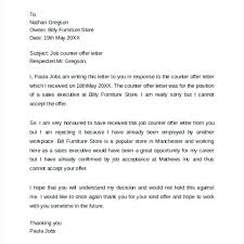 Awesome Collection Of Job Offer Counter Proposal Letter Sample