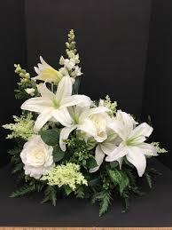 Easter Floral Design Ideas Lily Silk Flower Arrangement Easter Church Arrangement