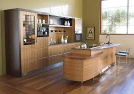 ... Engaging Image Of Kitchen Decoration With Small Wooden Kitchen Bar :  Archaic Image Of Kitchen Design ...