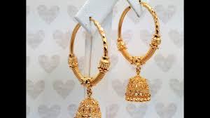 goldshine treasure for generations hoop bali chandelier jhumka earrings 22k solid gold