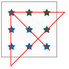 When you choose a connector, dots to draw a line connecting shapes, on the first shape, rest your mouse pointer over the shape or object. Using 4 Straight Lines Connect The Stars Together Puzzling Stack Exchange