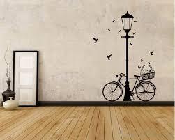 street lamp bicycle wall art sticker