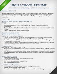 Sample College Resumes For High School Seniors 15 Application Resume