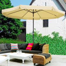 details about 10ft aluminum outdoor patio umbrella yard garden market w valance crank tilt