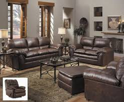 Leather Furniture For Living Room Furniture Tufted Leather Sofa And Chairs With Wings With White