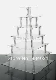 Lucite Display Stands Simple 32 Tier Square Acrylic Cupcake StandPerspex Bakery Display Stand