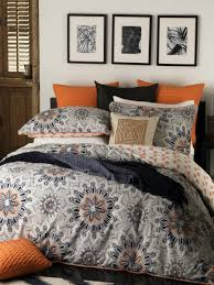 Quilt Covers | Doona Covers | Sets - King, Queen, Double & Single ... & Logan and Mason Bali Orange Quilt Cover Set Adamdwight.com