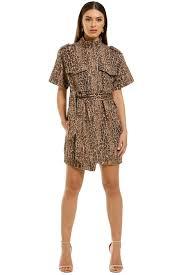 Reiterate Dress Brown Leopard
