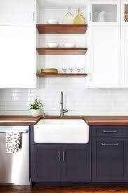 butcher block countertops white cabinets beautiful