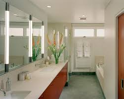bathroom lighting ideas ceiling. Breathtaking Vertical Vanity Lighting Modern Bathroom Ideas Wall Led Lamps And Big Mirror Lamp Ceiling