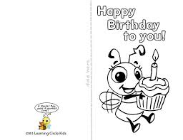 Free Templates For Kids Birthday Cards For Kids To Color Printable Birthday Cards For Kids