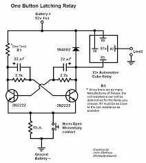 12vdc latching relay one pulse on off wanted electronics Bosch Relay Wiring Diagram one button toggle relay gif
