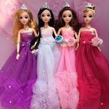 Fashion Design Toys Us 3 02 16 Off Nk One Set 2019 Handmade Dolls Clothes Fashion Design Lace Wedding Dress Party Gown For Barbie Dolls Best Toys Gift Jj In Dolls