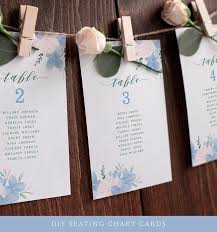 Hydrangea Seating Chart Cards Wedding Seating Chart