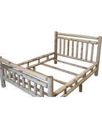 Presidents Day Deal Alert! Rustic White Cedar Log Bed Frame, Queen