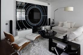 Black And White Modern Apartment Interior Design Black And White Impressive White Modern Living Room Ideas