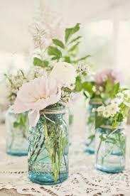 Blue Mason Jars Wedding Decor HUNTED Wedding Decor Mason Jars Jar Flower and Weddings 74