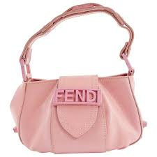 fendi pre owned pink leather handbags lyst
