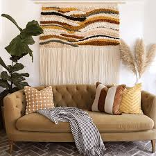 In our last house, i used this abstract painting (a craigslist find) to fill the wall behind the sofa, almost up to the ceiling. Large Scale Wall Art Ideas That Fill Huge Walls
