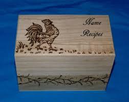 Decorative Recipe Box Decorative Recipe Box Personalized Wood Burned Recipe Card 43