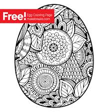 Find here more easter ornaments and printables for holidays. Free Easter Egg Coloring Page Make Breaks
