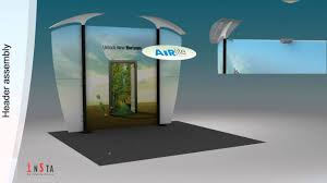 Stall Display Stands Exhibition Stall Design using AirLite™ Portable Display Stand from 34