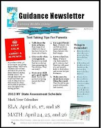 schools newsletter ideas templates homeroom school counseling middle school counselor