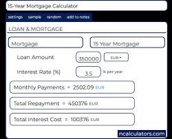 15 Year Mortgage Calculator