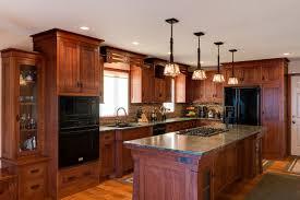Quarter Sawn White Oak Island Craftsman Kitchen