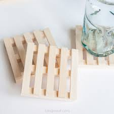 wooden pallet coasters by one dog woof one of a collection of diy drink coasters