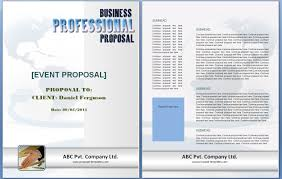 Free Event Proposal Template Event Proposal Template Free Formats Excel Word 14