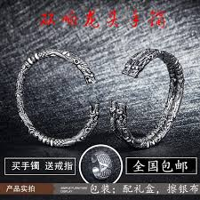 old nine door chen wei 霆 爷 同 with the dragon bracelet zhao liying retro s925 sterling silver men and women couples open thai silver