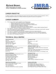 Resume Format Career Objective Zromtk Magnificent Model Resume