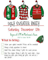 Ugly Sweater Party Invitation Wording and Ideas for your Ugly Christmas  Sweater party!