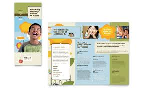 Education Brochure Templates Child Development School Tri Fold Brochure Template Design