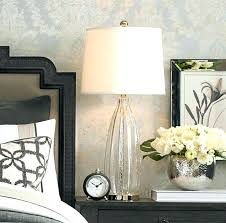 cute bedside lamp height design regarding best side table mercury glass side table blue stone